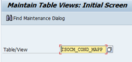 Table TSOCM_COND_MAPP