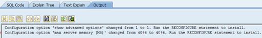 SAP ST04 SQL code execute
