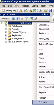 SQL Server Management Studio - Dynamic Memory