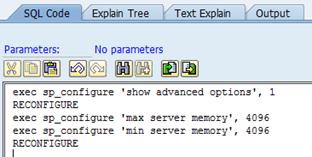 SAP ST04 SQL execute