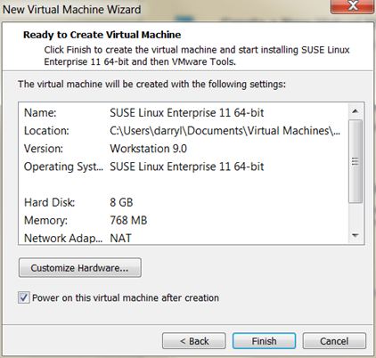 HANA VM needs more hardware