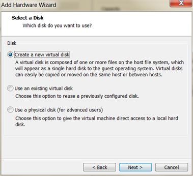 SUSE HANA VM new virtual disk