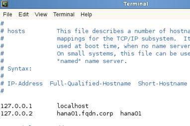 SUSE HANA VM hostname and fqdn setup