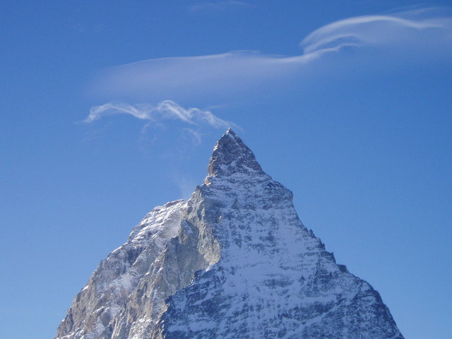 Cloud wisp on mountain